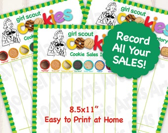 2018 LBB Girl Scout Cookie INVENTORY LIST Printables Girl Scouts Cookies Tally Sheet Booth Decor 8.5 x 11 Printable supplies for More Sales