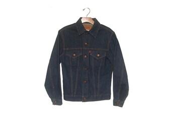 Vintage Levi's 60s - 70s Big E Denim Jacket Trucker Men's Small Medium