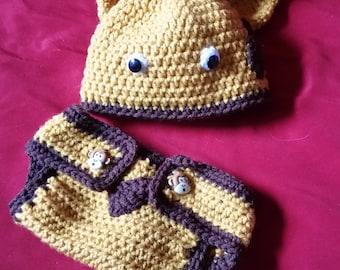 Giraffe Hat and Diaper Cover