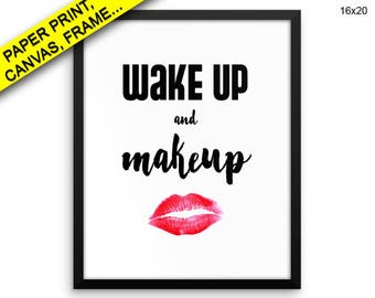Makeup Canvas Art Makeup Printed Makeup Fashion Art Makeup Fashion Print Makeup Framed Art Makeup fashion poster gift for her makeup print
