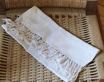 Vintage Linen and Flax table runner
