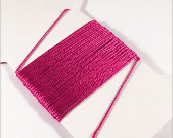 Cord cotton waxed thread 0.5 mm Fuchsia 5 m for necklaces and beaded Bracelets
