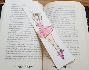 Ballerina Minimalist Watercolor Bookmark