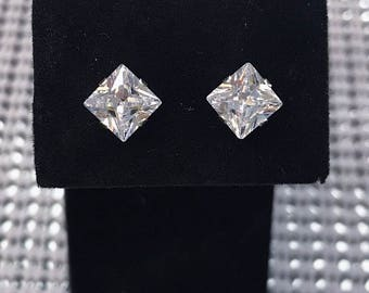 Silver/Gold Plated Diamond studded Silver Earrings