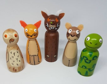 The Gruffalo Peg Doll Set / Small World Play / Open Ended Play/ Preschool / Montessori / Waldorf / Wooden Toys / Educational