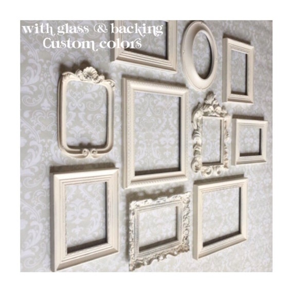 White PICTURE FRAMES frame set wall gallery Vintage