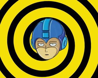 Mega One Punch Man Enamel Pin