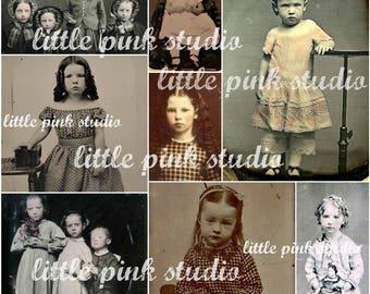Vintage Children 02,  Printable Collage Sheet (digital download, printable)