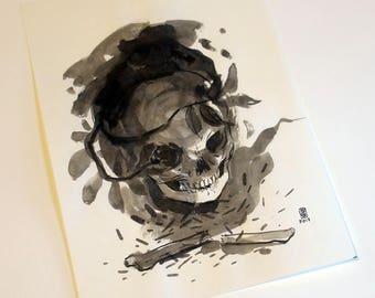 Memento Mori - original ink painting