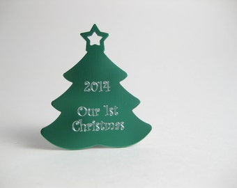 Our First Christmas Ornament, Custom Engraved Familiy Ornament, First Christmas Ornament Married