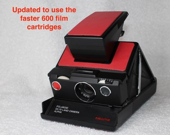 Rebuilt Polaroid SX70 Alpha Executive - Updated to use 600 Film Cartridges and Red Skins