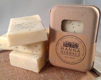 Lemon Poppyseed - Citrus Soap - 5 ounce soap - Exfoliating soap - Garden Soap - Kitchen Soap - Lemon Essential Oil