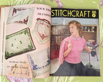 Original bound issues of Stitchcraft magazine from 1955