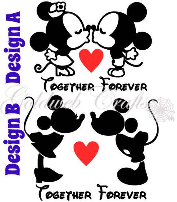 Kissing minnie and mickey inspired vinyl car decal altavistaventures Image collections
