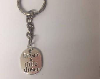 Cute keyring dream a little keychain motivational keyring fitness keyring