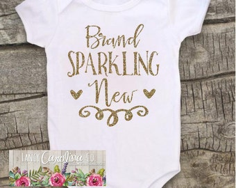 Baby girl coming home outfit - Brand Sparkling New Baby Girl Onesie® - Newborn Onesie - Baby Shower Gift