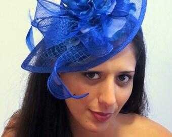 Fascinator  Royal Blue Wedding Hat STAVVY BLUE