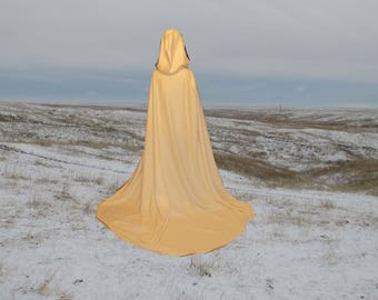 Ivory Wedding Cloak with Train - Medieval Wedding - Renaissance Festival - Costume