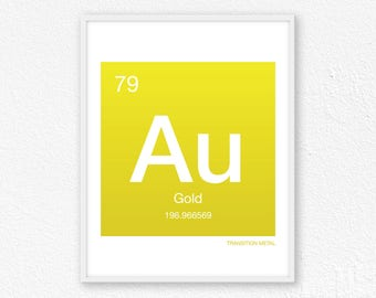 79 Gold, Periodic Table Element | Periodic Table of Elements, Science Wall Art, Science Poster, Science Print, Science Gift