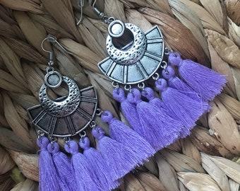 SABAH purple ethnic earrings