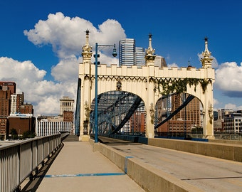 Smithfield Street Bridge, Pittsburgh Photography Print and Canvas Wrap, Pittsburgh Art and Home Decor