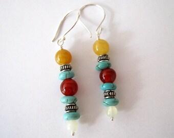 Desert Inspired Gemstone Earrings