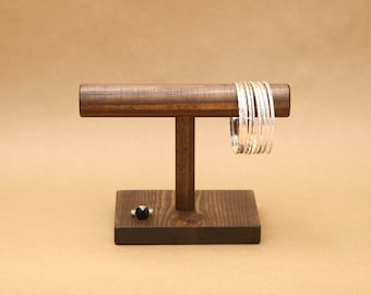 Bracelet Display Stand / T Stand / Solid Wood T-Bar / 8 inch bar / Trade Show Display / Craft Show Display / BR004