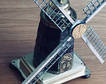 Windmill made from watch and clock parts