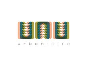 Professional Pre-made Retro OOAK Logo / Branding / Logo Design / Business Branding / Retro / Mid-Century / Pattern
