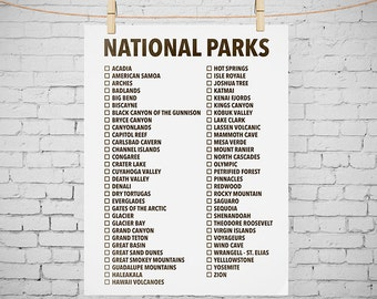 Revered image regarding printable list of national parks by state