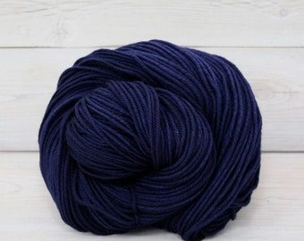 Calypso - Hand Dyed Superwash Merino Wool DK Light Worsted Yarn - Colorway: Nautical Blue