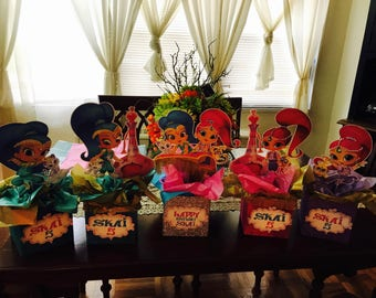 Shimmer and Shine Centerpieces -shimmer and Shine Birthday -girls decorations