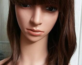 BROWN WIG stright realistic wigs fashion
