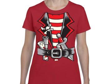 Pirate T-Shirt Pirate Costume  Women's T-shirt Tee