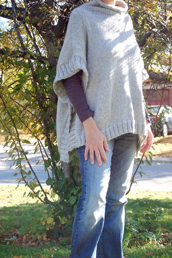Easy To Knit Poncho Pattern Knit Poncho Simple To Knit Poncho