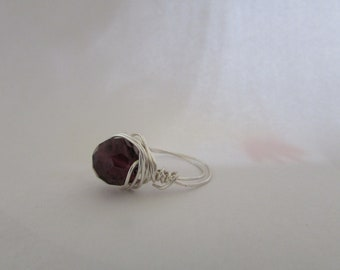 Purple hand crafted ring