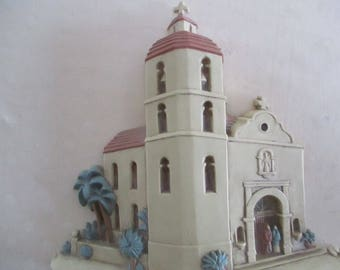 Southwest Wall Art  Burwood Products  3D Spanish Mission Church  Set of 2