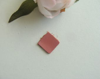 2 square leather applique pink color