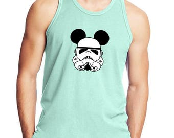 Disney Star Wars Inspired Storm Trooper Mickey Vacation men's mens tank top 42mt