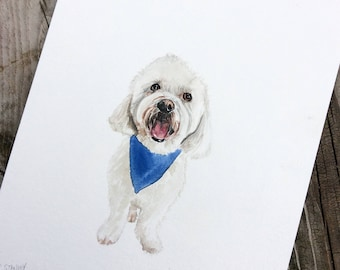 Custom Pet Portait - Watercolor Painting