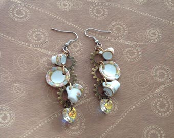 Steampunk Tea Cup Earrings