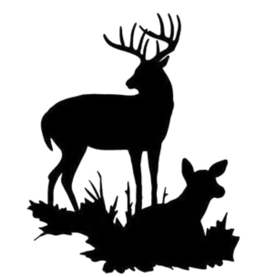 Buck And Doe Stencil Made From 4 Ply Mat Board Choose A