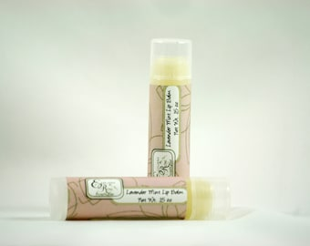Lavender Mint Lip  Balm - Natural  Lip Balm - Essential Oil Lip Balm