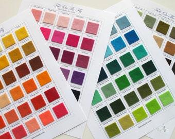 Wool Felt Samples, Swatch Card Set, Merino Wool Felt, Felt Color Catalog, Felting, Felt Swatches, Wool Samples, Sewing Notions, Swatch Book