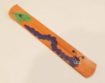 Ash catcher / Incense holder / joss stick holder googly eyed Caterpillar