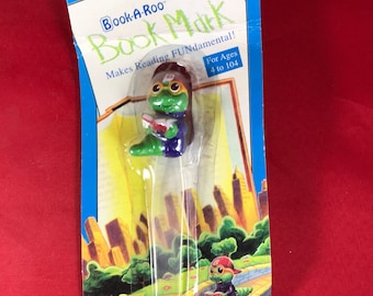 Bookworm Book-A-Roo Bookmark - Early 90s New In Packaging - Book Fair Nostalgia