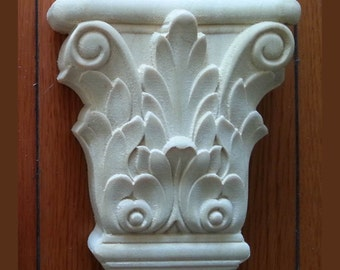 Vintage home decoration wood carved column
