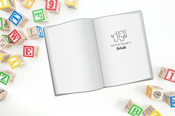 Children's Personalized Book Stamp