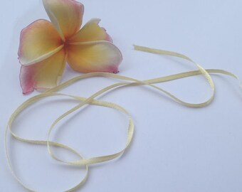 5 yards of primrose yellow 3mm wide ribbon