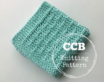 Washcloth / Dishcloth Knitting PATTERN - Finch